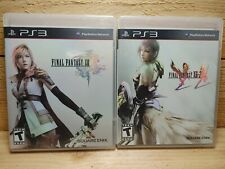 Final Fantasy XIII & XIII-2 Sony PlayStation 3 RPG Video Game Lot PS3