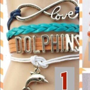 Infinity Love NFL Miami Dolphins Team Bracelet