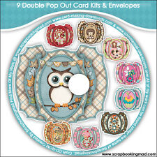 DISK 9 - 9 Double Pop Out Card Kits & Envelopes - CD-ROM