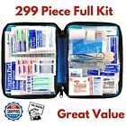 299 Piece First Aid Kit Survival Emergency Medical Supply Bag Home Travel Car