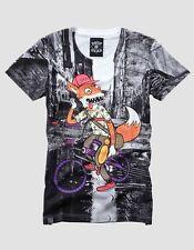 WOMENS DROP DEAD FOXY RIDER GRAFFITI HXC RARE URBAN OLI SYKES T SHIRT TOP UK S/M