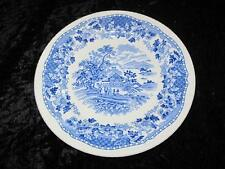 """VINTAGE CHINA Wood's Ware 8 Inch Salad Plate """"Seaforth"""" Blue & White 1930s"""
