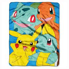 """Pokemon Pikachu Kantos Pals Silk Touch Throw Blanket 55"""" x 70"""" NEW"""