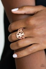 Paparazzi Jewelry Ring ~Fanciful Flower Gardens - Rose Gold