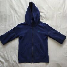 Nike The Athletic Dept. Size: S Blue Cotton Full Zip Long Sleeve Jumper Hoodie