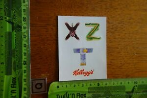 Alter Aufkleber Cornflakes Smacks Buchstaben KELLOGG's COMPANY 1992 X Z T