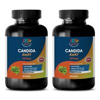 CANDIDA AWAY Detox Dietary Supplement Pure Herbs 2 Bottles - 120 Capsules