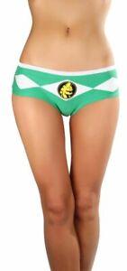 Juniors Underwear Martial Arts TV Show Power Rangers Green Ranger Logo Panty