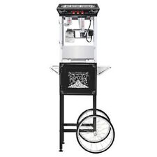 Popcorn Machine Maker Black 8 oz. Popper with Pop Corn Cart Free Shipping