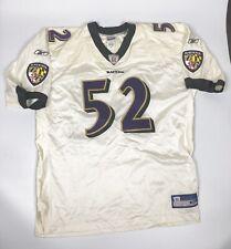 Reebok Baltimore Ravens #52 Ray Lewis White Authentic Jersey (Men Size 56