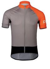 NWT! POC Essential Road Jersey Granite Grey/Zink Orange Sz Large L