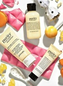 Philosophy PURITY 3pc SET Facial Cleanser, Moisturizer, Pore Extractor Clay Mask