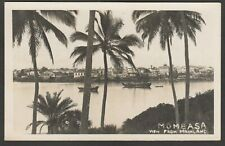 Postcard Mombasa Kenya a View From Mainland dated 1944 RP