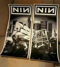 Nine Inch Nails La Palladium 2018 show posters S/N (Set)