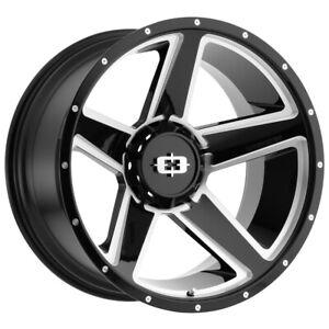 "Vision 390 Empire 20x9 6x5.5"" +30mm Black/Milled Wheel Rim 20"" Inch"