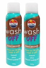 2 x LE TAN 100g WASH OFF INSTANT TAN DARK BRONZE 100% Brand New