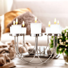 8 Tea Light Candle Holder Table Center Piece Christmas Wedding Decorative Glass