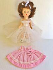 """Vintage 1950's Cosmopolitan Little Miss Ginger 8"""" Doll Fashion Original Dress"""