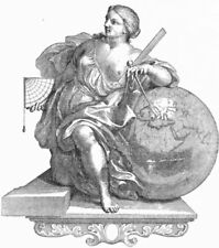 VENICE. Lady with globe & navigational equipment 1880 old antique print