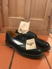 Dr Martens Original Black Leather Shoes UK Size 8 Brand New