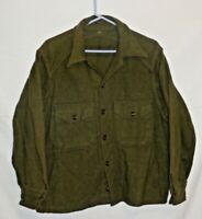 Vintage US ARMY Wool Military Shirt Cold Weather Field MEDIUM Great Condition