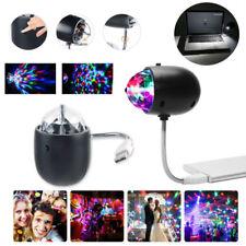 Mini USB LED Disco Stage Lighting DJ Ball Crystal Light Home Party Night Lamp