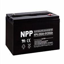 NPP 6V 200Ah AGM Battery for Champion M83CHP06V27 Golf Cart RV Boat