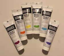 Lot Of Liquitex Professional Heavy Body Acrylic 6 -2oz Tubes Vibrant Color Set