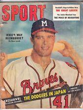 Sport Magazine - April 1957 - Eddie Mathews Milwaukee Braves Cover - VG