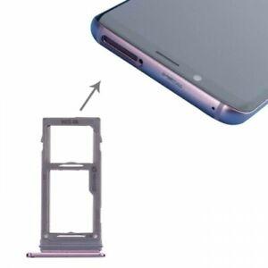 Tiroir Carte Sim pour Samsung Galaxy S9 G960F / S9 Plus G965F Violet