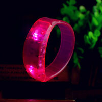 Voice Activated Sound Control LED Flash Bracelet Bangle Wristband For Party Club