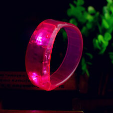 Chic Sound Controlled Voice LED Light Up Bracelet Activated Glow Flash Bangle