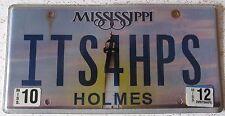 Mississippi 2012 VANITY License Plate IT'S FOR HIPS
