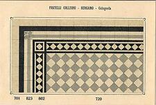 Stampa antica PAVIMENTO A MOSAICO Piastrelle Mattonelle C 720 1910 Antique print