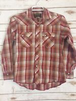 Rustler By Wrangler Top Size Large Western Shirt Pearl Snap