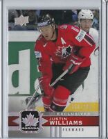 2017-18 Canadian Tire Hockey #38 Justin Williams UD exclusives 50/100 Upper deck