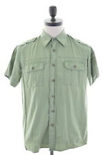 CARRERA Mens Shirt Medium Green Cotton