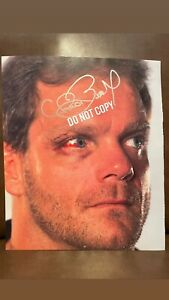 WWE CHRIS BENOIT HAND SIGNED IN PERSON 9.5 X 11.5 PHOTO WITH PROOF RARE WWF