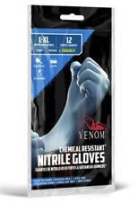 Venom Steel Nitrile Gloves Chemical Resistant L-XL 12 Ct Powder Free Latex Free