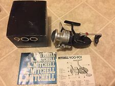 Vintage New fishing reel in box Mitchell 900 high speed made in France spinning