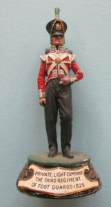 Pewter hand-painted figure of a Private of the Light Coy. 3rd Foot Guards 1828