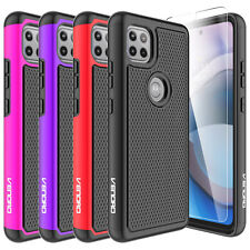 For Motorola Moto One 5G Ace 2021 Case Full Body Cover+Built-In Screen Protector