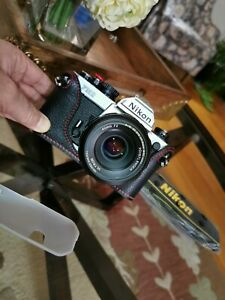 Mint NIKON FM-2 With Brand New Real Leather Half Case + New Eyecup and New Strap