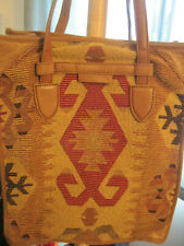 Isabella Fiore Aztec Tapestry Tote with Leather Trim and Handles-New Unworn
