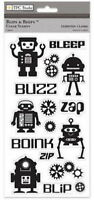 BLIPS and BEEPS Robot - TPC Clear Stamp Set - Scrapbook Stamping SALE