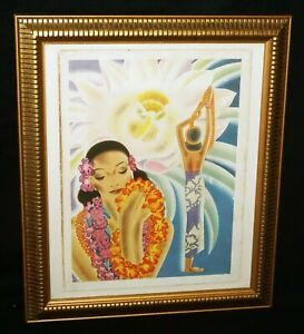 40s Hawaii Matson Menu Cover Night Blooming Cereus by Frank H McIntosh (NiJ)