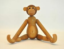 Vtg Mid Century Danish Modern Teak Wood Monkey Hanging Toy Bojesen Japan Zooline