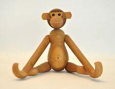Vtg Mid Century Danish Modern Teak Wood Monkey Hanging Toy Bojesen Japan Zooline