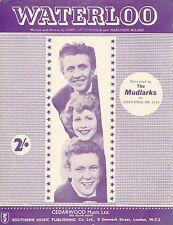 Waterloo - The Mudlarks - 1959 Sheet Music