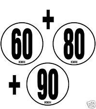 3 Limitation de Vitesse Autocars Tracteur Poids lourd 60+80+90 KM/H 3 adhésifs